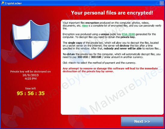 Cryptolocker Hijacker – Ransomeware Trojan